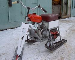 Использование рамы от велосипеда в самодельном снегоходе