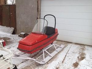 Самодельный прицеп для снегохода