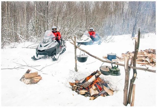 Снегоходы в Томске, в Сибири