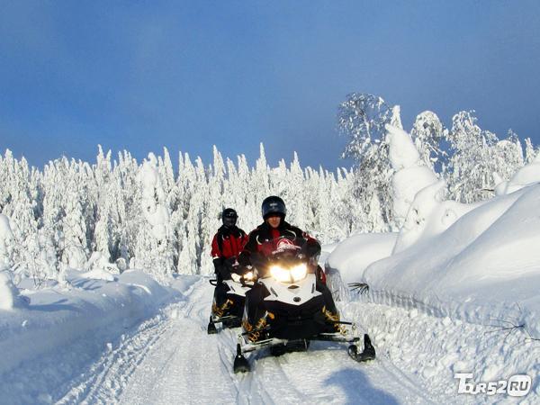 фото На снегоходе с инструктором