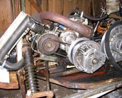 """Смонтированный мотор от техники-""""донора"""""""