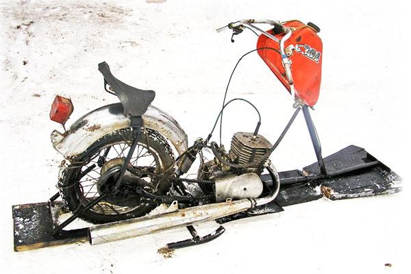 Снегоход из двигателя мотоцикла