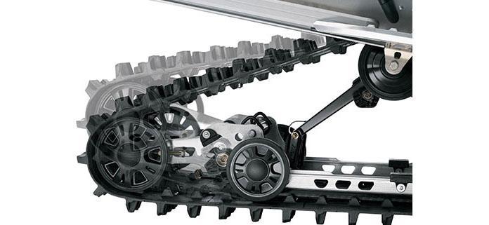 Дизайн задней подвески SC-5U обеспечивает максимальное сцепление со снегом при помощи безинструментного механизма блокировки.