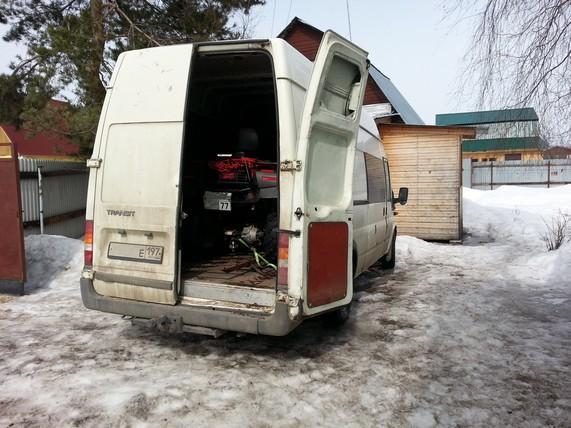 перевозка квадроцикла в фургоне