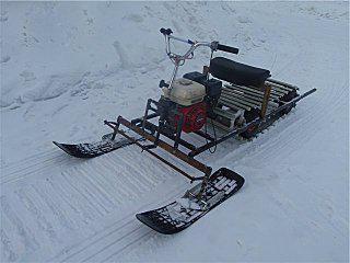 самодельные мини снегоходы из бензопилы