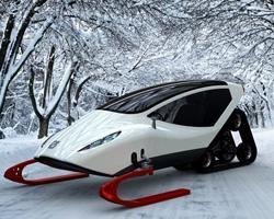 Прототип скоростного снегохода